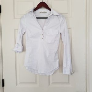 Zara half button blouse